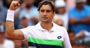 PARIS, FRANCE - MAY 29:  David Ferrer of Spain celebrates victory following the mens singles first round match against Donald Young of The United States on day two of the 2017 French Open at Roland Garros on May 29, 2017 in Paris, France.  (Photo by Clive Brunskill/Getty Images)