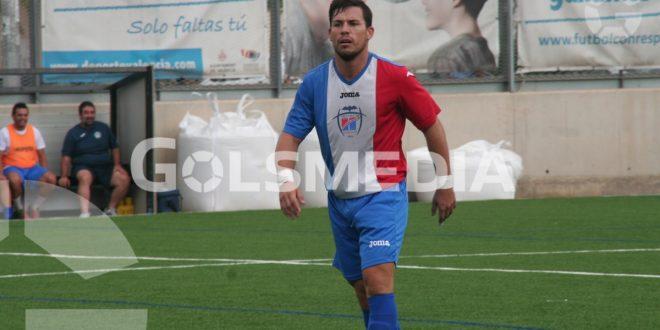 Mario García, en un partido durante su etapa como jugador de Històrics Valencia