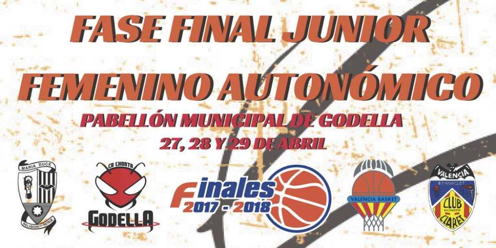 cartel fase final autonomico junior femenino basket