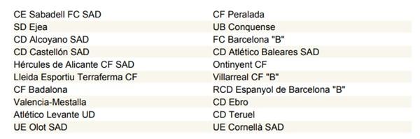 Calendario Segunda B.Disponible Tambien El Calendario De Segunda B Golsmedia Sports