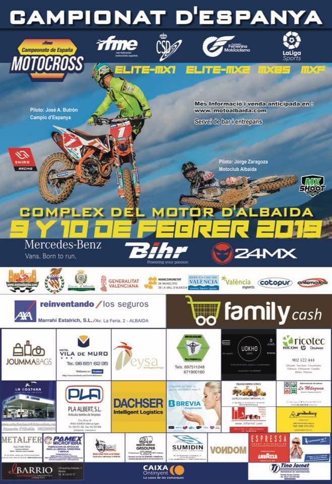 Cartel Motocross Campeonato de España