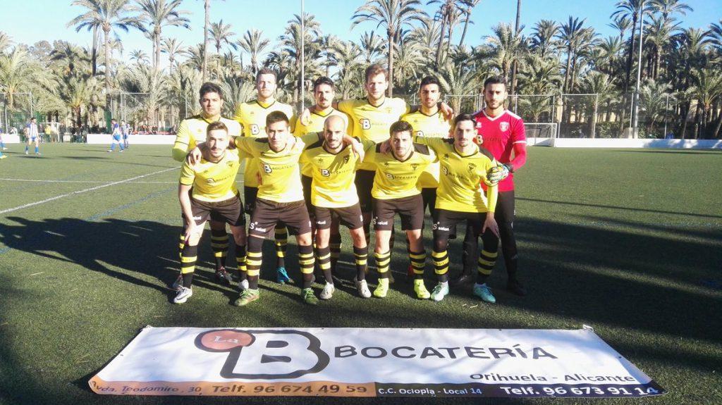 El Orihuela Deportiva en un encuentro de Segunda Regional
