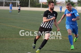 Javi Selvas en un partido del Castellonense esta temporada
