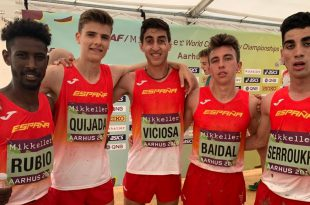 Miguel Baidal junto con sus compañeros españoles