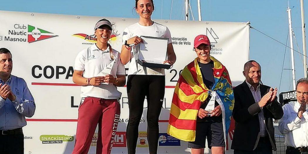 Marta Peñarubia en la Copa de España de Laser Radial