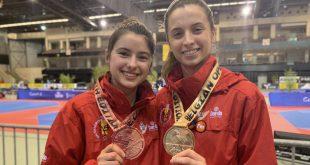 Alba Palmer y Palmira Tatay Open Taekwondo Bélgica 2019