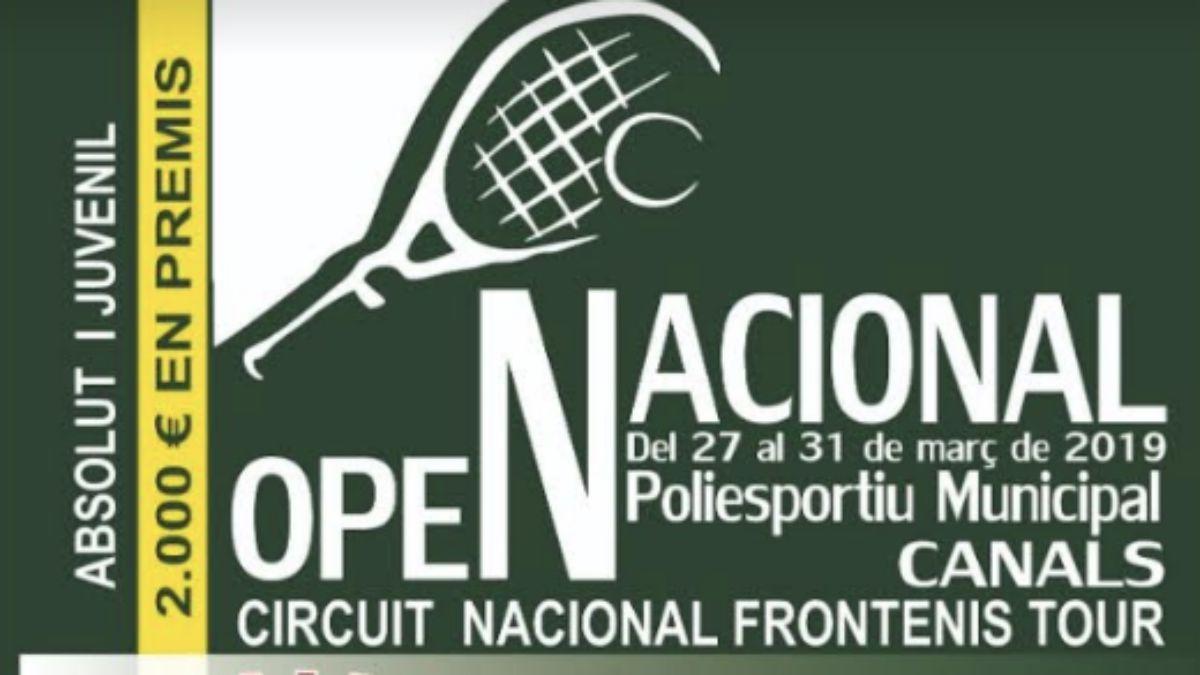 Cartel Open Nacional Frontenis Absoluto y Juvenil 2019