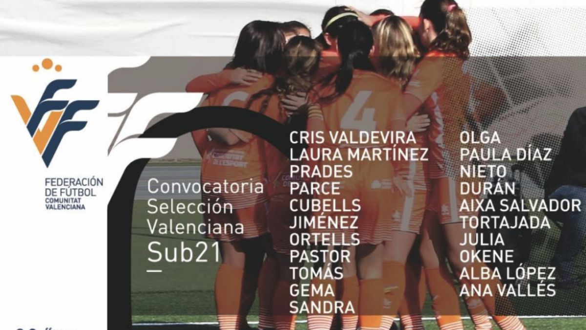 Convocatoria selección valenciana femenina Sub-21