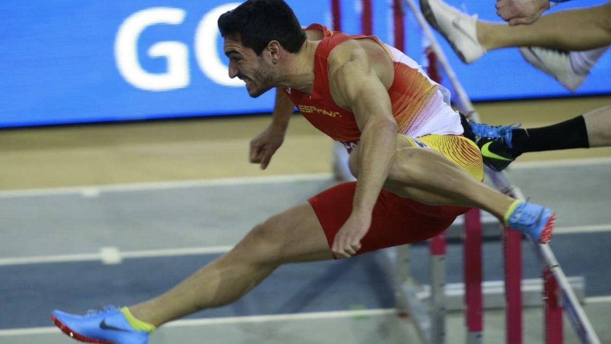 Jorge Ureña saltando Europeo Glasgow 2019
