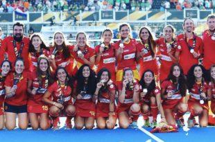 Selección española femenina hockey bronce mundial