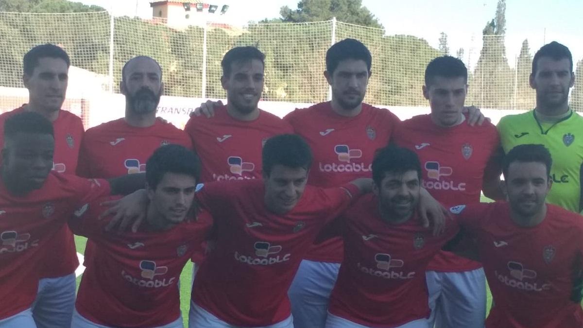 Alineación del Rayo Ibense durante un partido