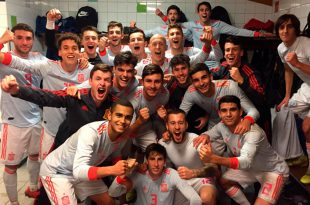 celebración seleccion española sub 19