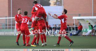 Celebración gol jugadores del Tous
