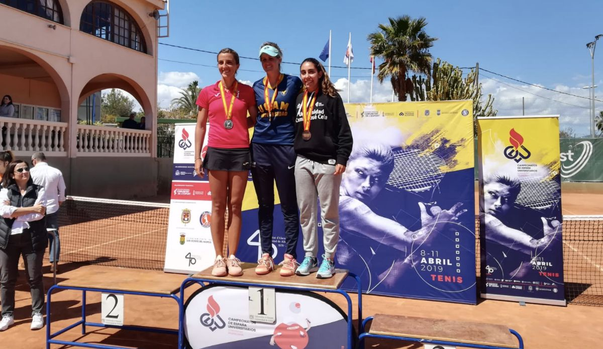 Podio individual femenino Nacional Tenis Universitario 2019