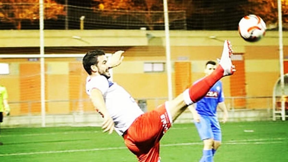 Francesc Vidal durante un partido de esta temporada