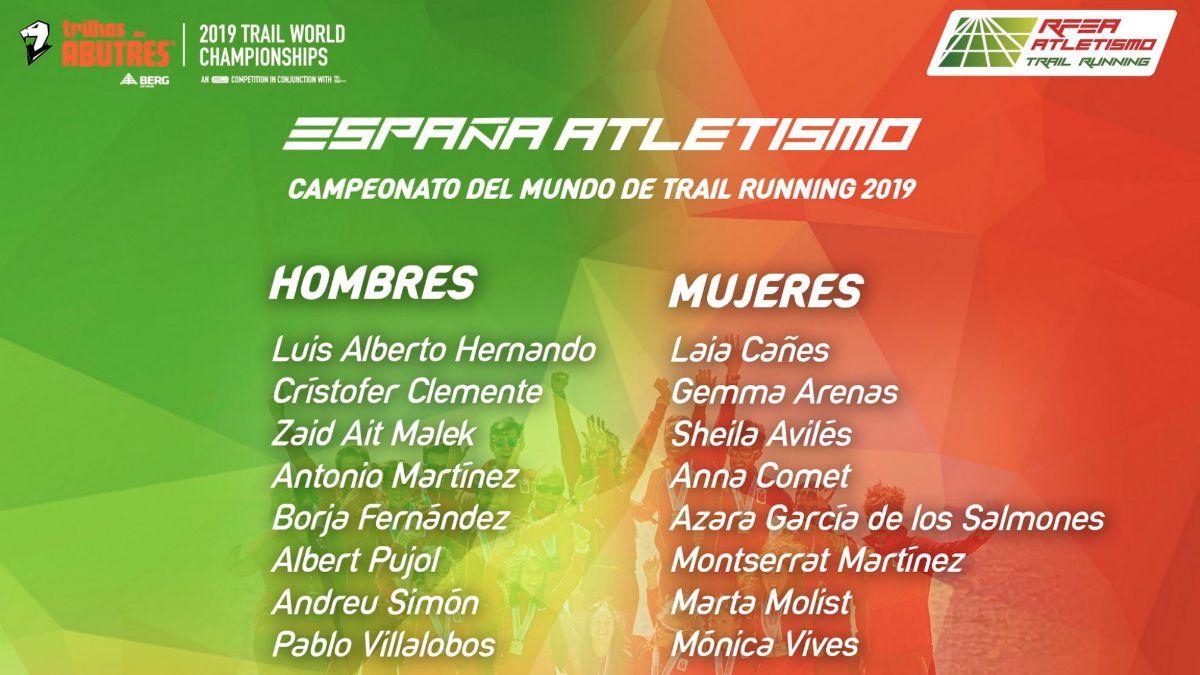 selección española Mundial Trail Running 2019