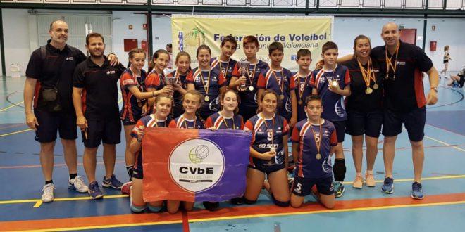 CV Elche Go Sexy y Salesianos San Rafael de Elche, campeón y subcampeón femenino, nos representarán en el Nacional Alevín.