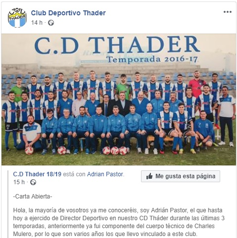 Carta Abierta Adrián Pastor