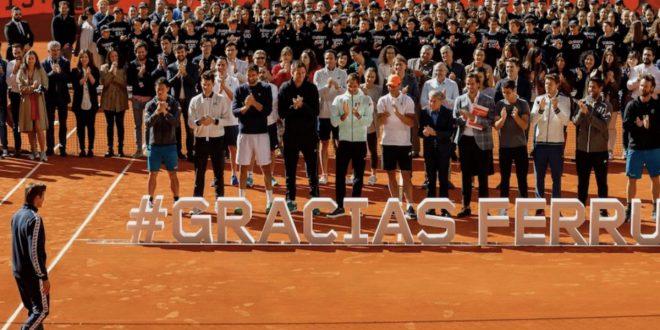 Despedida organización y tenistas David Ferrer
