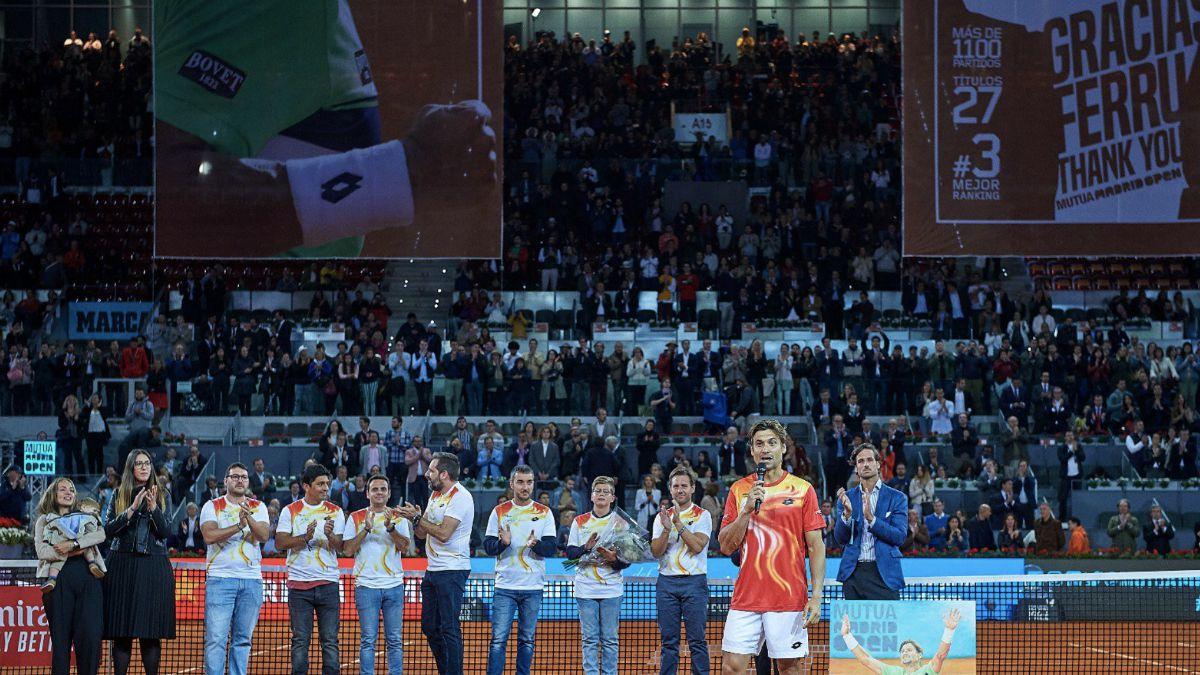 Homenaje Mutua Madrid Open David Ferrer