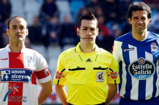 Manuel Carrión con Valerón Alcoyano Deportivo