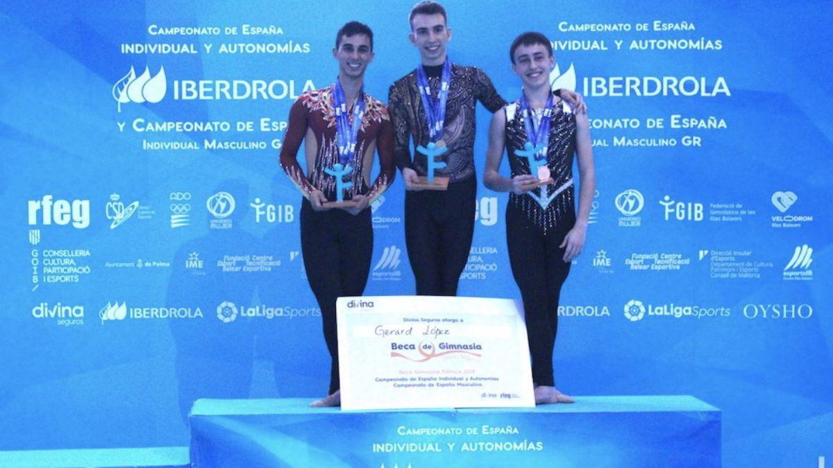Álvaro Pradas, subcampeón España gimnasia rítmica