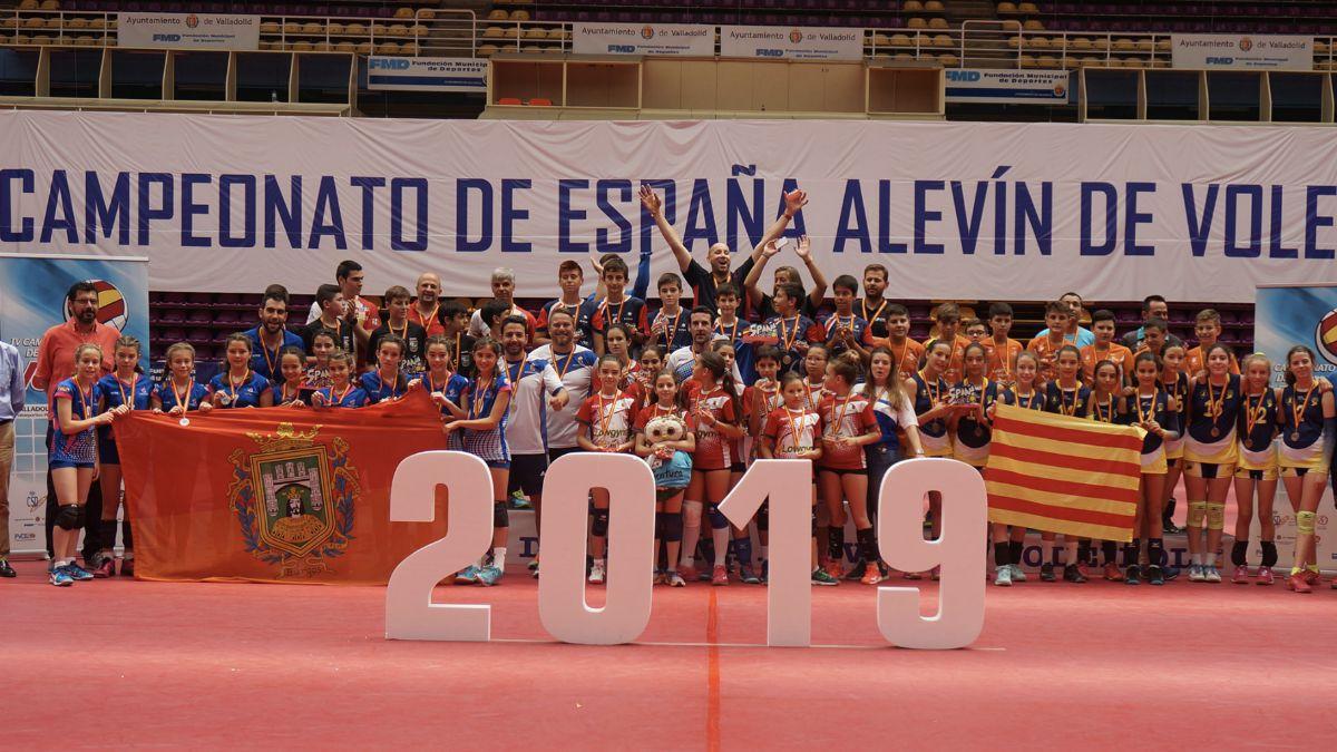 Medallistas Nacional Voleibol Alevín 2019
