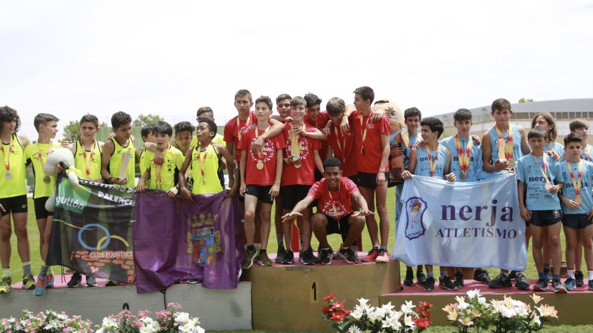 Podio masculino Nacional Atletismo Sub-14 2019