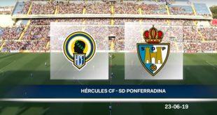 Vídeo Hércules-Ponferradina