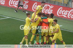 Villarreal juvenil celebración gol