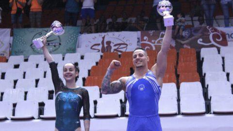 Ana Pérez y Néstor Abad campeones España Gimnasia Artística 2019