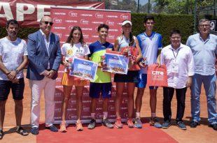 Campeones y subcampeones Nacional cadete tenis 2019