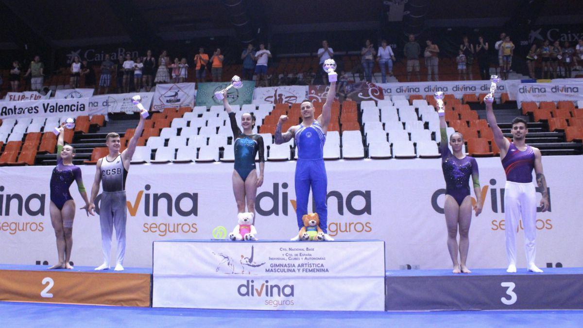 Podio absoluto Campeonato España Gimnasia Artística 2019