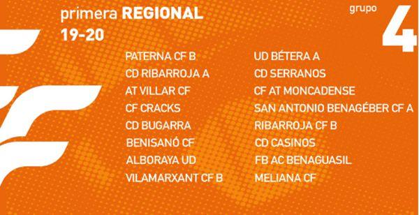 La Primera Regional ya sabe qué equipos tendrá cada grupo ...