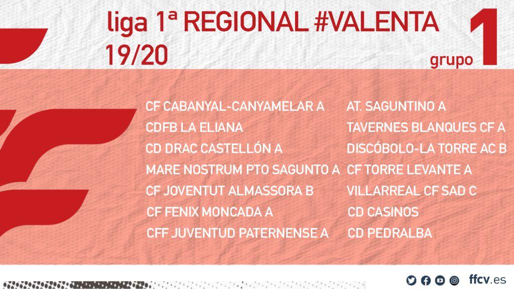 Acb Calendario 2020.Calendario Oficial De La Primera Regional Valenta 2019 2020