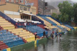 Estadio Los Arcos inundado