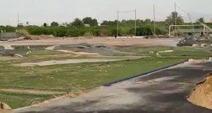 Estadio Luis Rocamora tras la tormenta