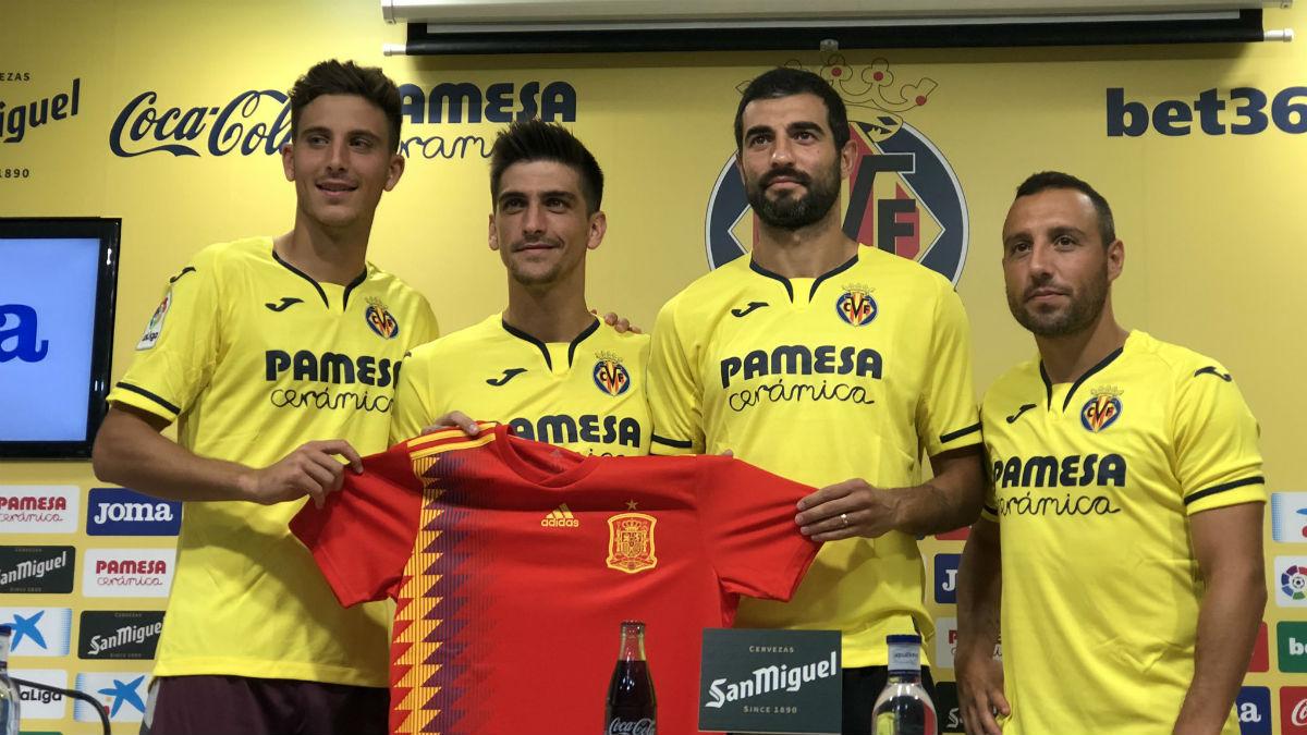 Pau Torres, Gerard Moreno, Albiol y Cazorla Selección Española