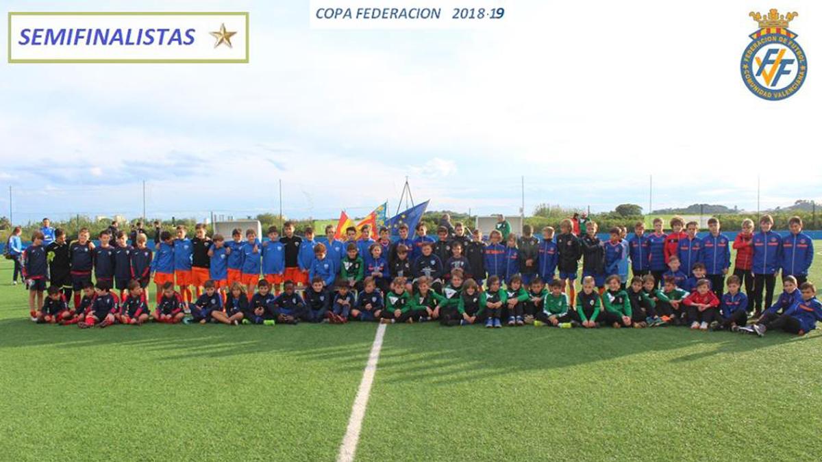 Semifinalistas Alevines Copa Federación2018-2019