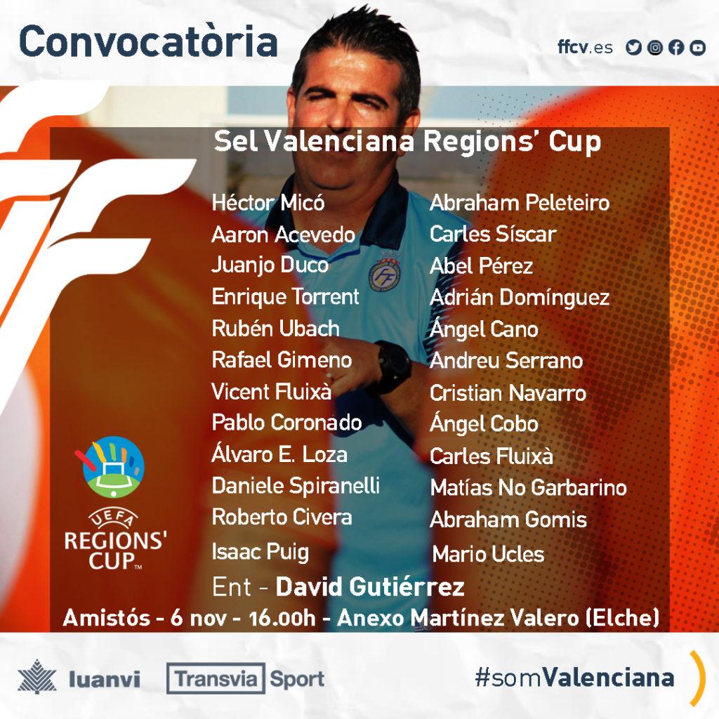 Seleccio Valenciana Amateur lista de convocados