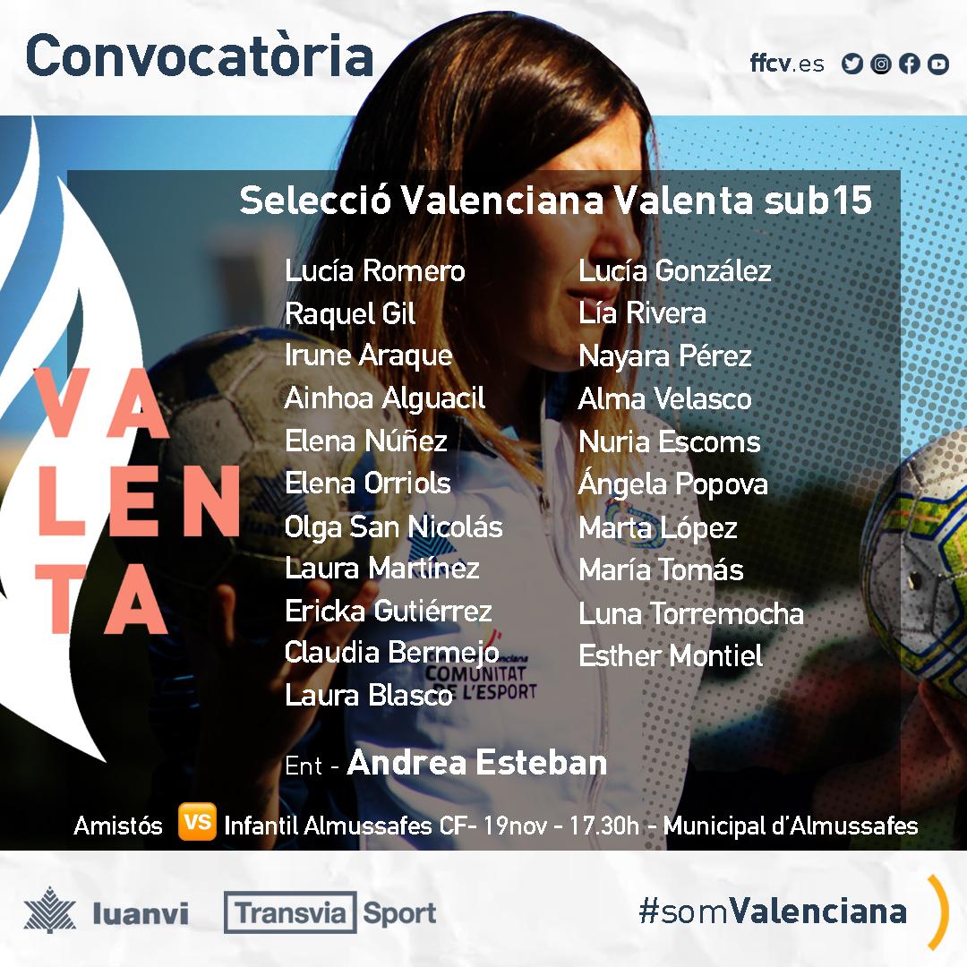 Selección Femenina Valenciana Sub15