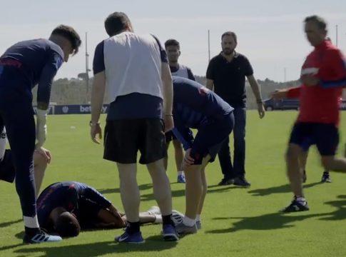 Vídeo Broma Betway entrenamiento Levante UD