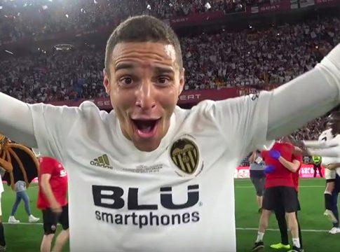 Rodrigo Valencia CF fiesta Copa del Rey