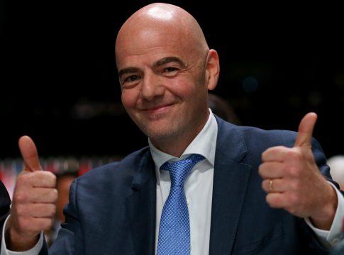 El presidente de la FIFA Gianni Infantino.