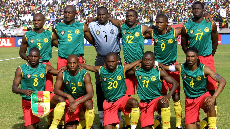 camiseta de futbol Camerun 2002