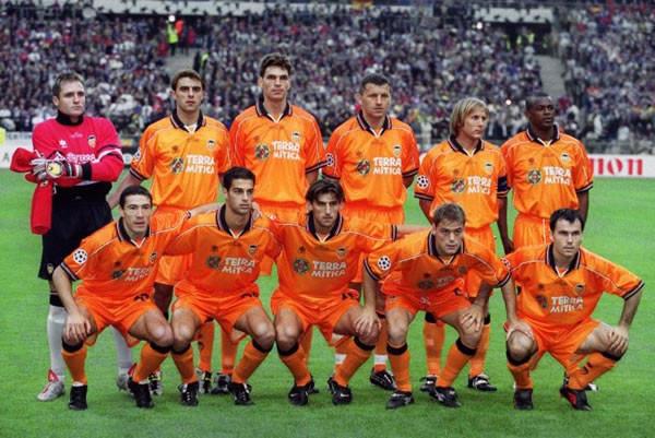 camiseta de futbol valencia cf naranja 2000
