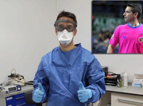 Carlos Rabadan arbitro y sanitario