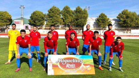 Once de La Roda en su partido frente al Quintanar del Rey. La Roda CF