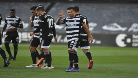 Rubén Castro celebrando un gol este fin de semana. Foto: @FCCartagena_efs