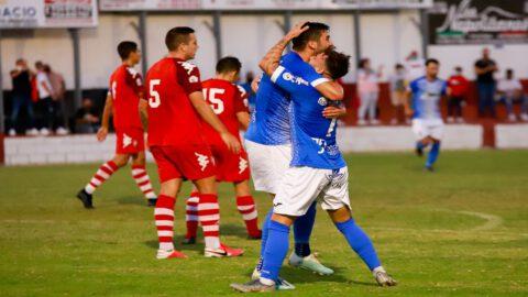 Los xerecistas celebrando un gol en esta pretemporada.